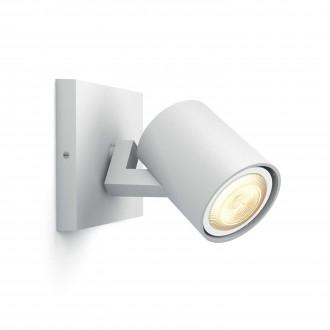 PHILIPS 53090/31/P8 | PHILIPS-hue_Runner Philips zidna, stropne svjetiljke hue smart rasvjeta okrugli jačina svjetlosti se može podešavati, sa podešavanjem temperature boje 1x GU10 250lm 2200 <-> 6500K bijelo