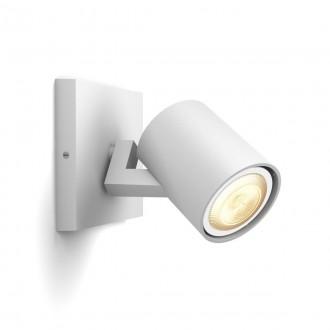 PHILIPS 53090/31/P9 | PHILIPS-hue-Runner Philips spot hue smart rasvjeta okrugli jačina svjetlosti se može podešavati, sa podešavanjem temperature boje, Bluetooth 1x GU10 350lm 2200 <-> 6500K bijelo
