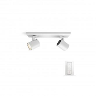 PHILIPS 53092/31/P7 | PHILIPS-hue_Runner Philips zidna, stropne svjetiljke hue smart rasvjeta okrugli daljinski upravljač jačina svjetlosti se može podešavati, sa podešavanjem temperature boje 2x GU10 500lm 2200 <-> 6500K bijelo