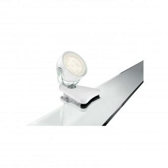PHILIPS 53231/31/16 | Dyna Philips svjetiljke sa štipaljkama svjetiljka sa prekidačem na kablu elementi koji se mogu okretati 1x LED 270lm 2700K bijelo