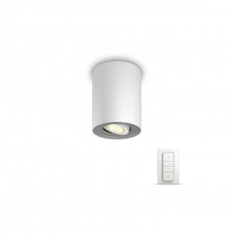 PHILIPS 56330/31/P7 | PHILIPS-hue_Pillar Philips stropne svjetiljke hue smart rasvjeta okrugli daljinski upravljač jačina svjetlosti se može podešavati, sa podešavanjem temperature boje 1x GU10 250lm 2200 <-> 6500K bijelo