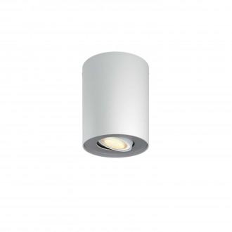 PHILIPS 56330/31/P8 | PHILIPS-hue-Pillar Philips stropne svjetiljke hue smart rasvjeta okrugli jačina svjetlosti se može podešavati, sa podešavanjem temperature boje 1x GU10 250lm 2200 <-> 6500K bijelo