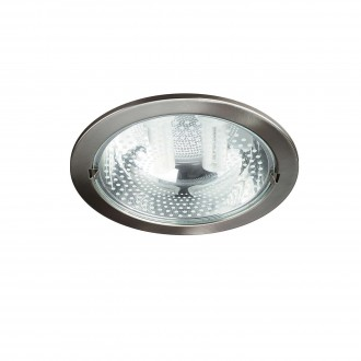 PHILIPS 59799/17/10 | Ronda1 Philips ugradbena svjetiljka za štednu žarulju Ø230mm 2x E27 kromni mat