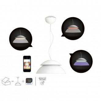 PHILIPS 71200/31/PH | PHILIPS-hue_Beyond Philips visilice hue smart rasvjeta okrugli jačina svjetlosti se može podešavati, promjenjive boje 4x LED 1200lm 2200 <-> 6500K bijelo