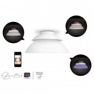 PHILIPS 71201/31/PH | PHILIPS-hue_Beyond Philips stropne svjetiljke hue smart rasvjeta okrugli jačina svjetlosti se može podešavati, promjenjive boje 4x LED 1200lm 2200 <-> 6500K bijelo