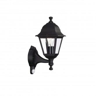 PHILIPS 71422/01/30 | Lima Philips zidna svjetiljka sa senzorom 1x E27 IP44 crno
