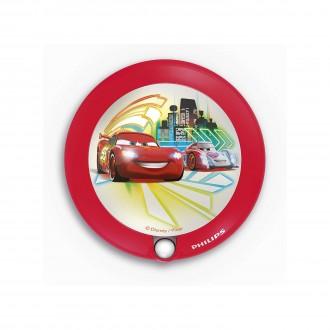 PHILIPS 71765/32/16 | Cars Philips LED noćno svjetlo svjetiljka sa senzorom 1x LED 5lm 3000K crveno, višebojno