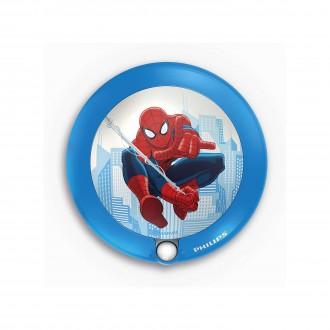 PHILIPS 71765/40/16 | Spiderman Philips LED noćno svjetlo svjetiljka sa senzorom 1x LED 5lm 3000K plavo, višebojno