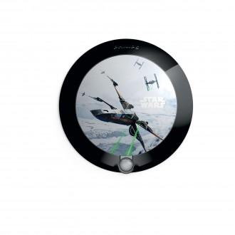 PHILIPS 71765/99/P0 | Star_Wars Philips zidna svjetiljka sa senzorom 1x LED 5lm 2700K crno, višebojno