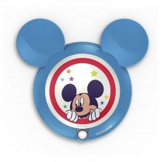 PHILIPS 71766/30/16 | Mickey_Mouse Philips LED noćno svjetlo svjetiljka sa senzorom 1x LED 5lm 3000K plavo, višebojno