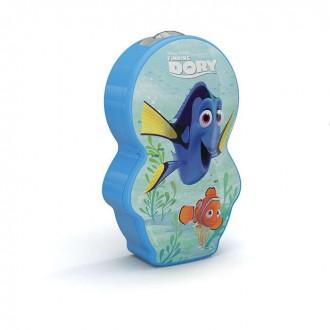 PHILIPS 71767/35/P0 | Finding-Dory Philips nosiva džepna lampa s prekidačem 1x LED 5lm 2700K plavo, višebojno