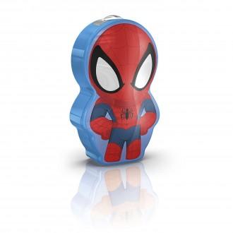 PHILIPS 71767/40/16 | Spiderman Philips nosiva džepna lampa s prekidačem 1x LED 5lm 2700K višebojno