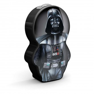 PHILIPS 71767/98/16 | Star-Wars-Darth-Vader Philips nosiva džepna lampa s prekidačem 1x LED 5lm 2700K crno, višebojno