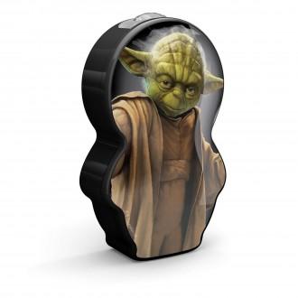 PHILIPS 71767/99/16 | Star-Wars-Yoda Philips nosiva džepna lampa s prekidačem 1x LED 5lm 2700K crno, višebojno