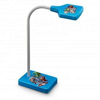 PHILIPS 71770/35/16 | Avengers Philips stolna svjetiljka 34,7cm s prekidačem fleksibilna 1x LED 270lm 2700K plavo, višebojno