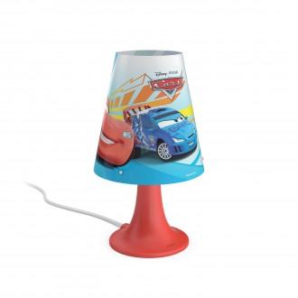 PHILIPS 71795/32/16 | Cars Philips stolna svjetiljka 24,4cm sa prekidačem na kablu 1x LED 220lm 2700K crveno, višebojno