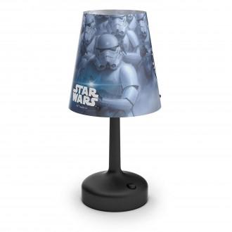 PHILIPS 71796/30/16 | Star-Wars Philips stolna svjetiljka 24,9cm s prekidačem 1x LED 2700K crno, višebojno