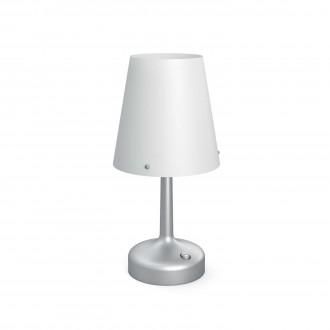 PHILIPS 71796/48/P0 | Table_Battery Philips stolna svjetiljka 24,9cm s prekidačem 1x LED 2700K sivo, bijelo