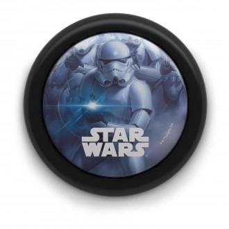 PHILIPS 71924/30/P0 | Star_Wars Philips zidna svjetiljka s prekidačem 1x LED 5lm 2700K crno, višebojno