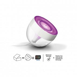 PHILIPS 71999/60/PH | PHILIPS-hue_Ambient Philips dekoracija hue Iris smart rasvjeta okrugli jačina svjetlosti se može podešavati, promjenjive boje 1x LED 120lm 2000 <-> 6500K prozirno