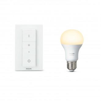 PHILIPS 8718696452523 | PHILIPS-hue Philips početni paket hue DIM portable prekidač + E27 A60 hue LED izvori svjetlosti smart rasvjeta obični A60 daljinski upravljač jačina svjetlosti se može podešavati 1x E27 806lm 2700K bijelo