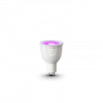 PHILIPS 8718696485880 | GU10 6,5W Philips spot LED izvori svjetlosti hue smart rasvjeta 250lm 2200 <-> 6500K jačina svjetlosti se može podešavati, promjenjive boje 160° CRI>80