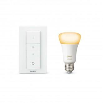 PHILIPS 8718696678404 | PHILIPS-hue Philips početni paket hue DIM portable prekidač + E27 A60 hue WA LED izvori svjetlosti smart rasvjeta obični A19 daljinski upravljač jačina svjetlosti se može podešavati, sa podešavanjem temperature boje 1x E27 806lm 22