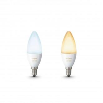 PHILIPS 8718696695265 | E14 6W Philips oblik svijeće B39 LED izvori svjetlosti hue smart rasvjeta 470lm 2200 <-> 6500K jačina svjetlosti se može podešavati, sa podešavanjem temperature boje, dvodijelni set