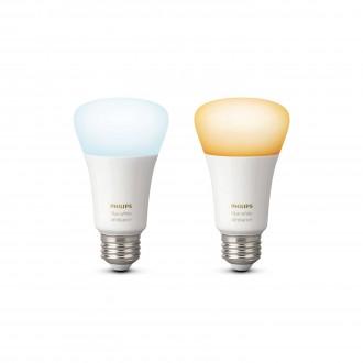 PHILIPS 8718696729083 | E27 9,5W Philips obični A19 LED izvori svjetlosti hue smart rasvjeta 806lm 2200 <-> 6500K jačina svjetlosti se može podešavati, sa podešavanjem temperature boje, dvodijelni set 160° CRI>80