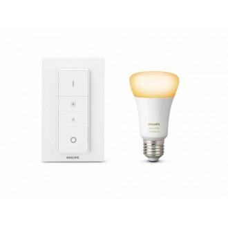 PHILIPS 8718696785331 | PHILIPS-hue Philips početni paket hue DIM portable prekidač + E27 A60 hue LED izvori svjetlosti smart rasvjeta obični A60 daljinski upravljač jačina svjetlosti se može podešavati, Bluetooth 1x E27 806lm 2700K bijelo