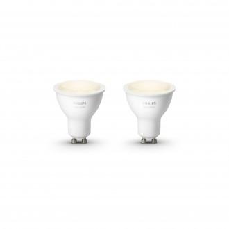 PHILIPS 8718699605537 | GU10 5,5W Philips spot LED izvori svjetlosti hue smart rasvjeta 300lm 2700K jačina svjetlosti se može podešavati, dvodijelni set 46° CRI>80