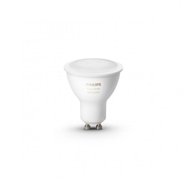 PHILIPS 8718699629250   GU10 5,7W -> 50W Philips spot LED izvori svjetlosti hue smart rasvjeta 350lm 2200 <-> 6500K jačina svjetlosti se može podešavati, promjenjive boje, sa podešavanjem temperature boje, Bluetooth, dvodijelni set CRI>80