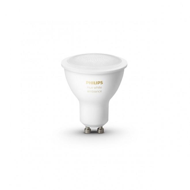 PHILIPS 8718699629298   GU10 5,5W -> 50W Philips spot LED izvori svjetlosti hue smart rasvjeta 350lm 2200 <-> 6500K jačina svjetlosti se može podešavati, sa podešavanjem temperature boje, Bluetooth, dvodijelni set CRI>80