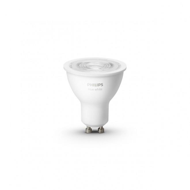 PHILIPS 8718699629311 | GU10 5,2W -> 57W Philips spot LED izvori svjetlosti hue smart rasvjeta 400lm 2700K jačina svjetlosti se može podešavati, Bluetooth, dvodijelni set CRI>80