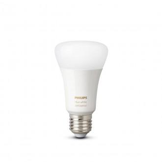 PHILIPS 8718699673369 | E27 8,5W -> 60W Philips obični A60 LED izvori svjetlosti hue smart rasvjeta 806lm 2200 <-> 6500K jačina svjetlosti se može podešavati, sa podešavanjem temperature boje, Bluetooth, dvodijelni set CRI>80
