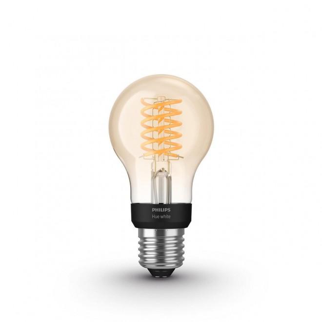 PHILIPS 8718699688820 | E27 7W -> 40W Philips obični A60 LED izvori svjetlosti hue smart rasvjeta 550lm 2100K jačina svjetlosti se može podešavati, Bluetooth CRI>80