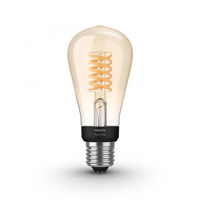 PHILIPS 8718699688868 | E27 7W -> 40W Philips Edison ST64 LED izvori svjetlosti hue smart rasvjeta 550lm 2100K jačina svjetlosti se može podešavati, Bluetooth CRI>80