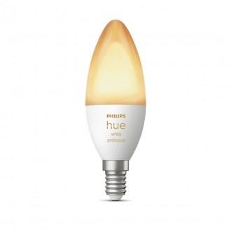 PHILIPS 8718699726294 | E14 6W Philips oblik svijeće B39 LED izvori svjetlosti hue smart rasvjeta 470lm 2200 <-> 6500K jačina svjetlosti se može podešavati, Bluetooth