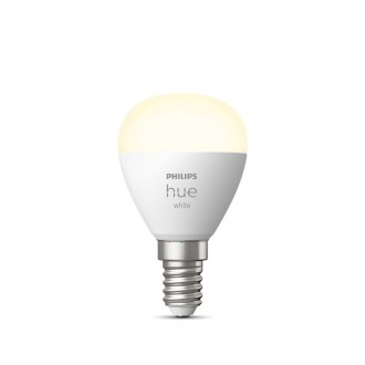 PHILIPS 8719514266889 | E14 5,5W -> 40W Philips mala kugla P45 LED izvori svjetlosti hue smart rasvjeta 470lm 2700K jačina svjetlosti se može podešavati, Bluetooth CRI>80
