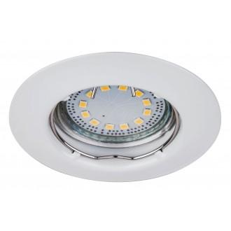 RABALUX 1046 | Lite Rabalux ugradbena svjetiljka trodijelni set Ø82mm 82x82mm 1x GU10 720lm 3000K IP44/40 bijelo
