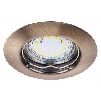 RABALUX 1048 | Lite Rabalux ugradbena svjetiljka trodijelni set Ø82mm 82x82mm 1x GU10 720lm 3000K IP44/40 bronca