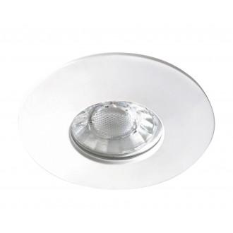 RABALUX 1078 | Randy Rabalux ugradbena svjetiljka okrugli trodijelni set Ø80mm 80x80mm 3x LED 1050lm 3000K IP44/20 bijelo