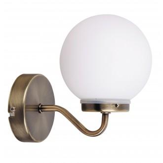 RABALUX 1302 | Togo Rabalux zidna svjetiljka 1x E14 IP44 bronca, bijelo