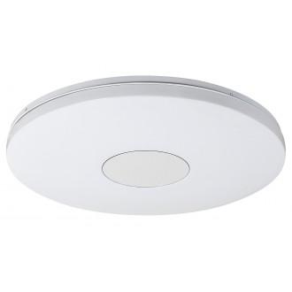RABALUX 1428 | Nolan Rabalux stropne svjetiljke svjetiljka okrugli daljinski upravljač jačina svjetlosti se može podešavati, sa podešavanjem temperature boje, timer 1x LED 3900lm 3000 <-> 6500K bijelo, srebrno