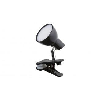 RABALUX 1478 | Noah Rabalux svjetiljke sa štipaljkama svjetiljka sa prekidačem na kablu elementi koji se mogu okretati 1x LED 360lm 3000K crno