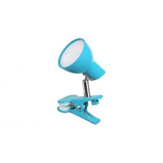 RABALUX 1479 | Noah Rabalux svjetiljke sa štipaljkama svjetiljka sa prekidačem na kablu elementi koji se mogu okretati 1x LED 360lm 3000K plavo