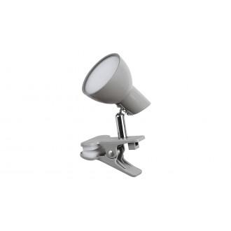 RABALUX 1480 | Noah Rabalux svjetiljke sa štipaljkama svjetiljka sa prekidačem na kablu elementi koji se mogu okretati 1x LED 360lm 3000K sivo