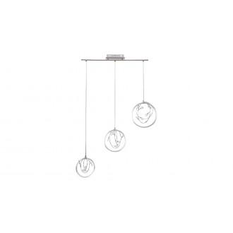 RABALUX 1494 | Chrissy Rabalux visilice svjetiljka 1x LED 1400lm 4000K srebrno, krom, kristal