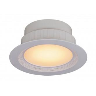 RABALUX 1503 | Shea Rabalux ugradbena svjetiljka okrugli daljinski upravljač zvučnik, jačina svjetlosti se može podešavati, promjenjive boje, sa podešavanjem temperature boje Ø195mm 195x195mm 1x LED 1050lm + 1x LED 3000 <-> 6000K bijelo