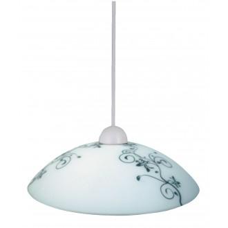 RABALUX 1848 | Bloomy Rabalux visilice svjetiljka 1x E27 bijelo, crno, šare